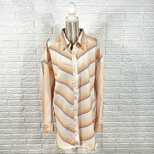 Erica Brooke Collection Striped Button Up Shirt